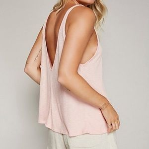 Free People • Sleek n' Easy Petal Pink Tank Top